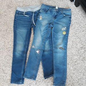 2 pair jeans